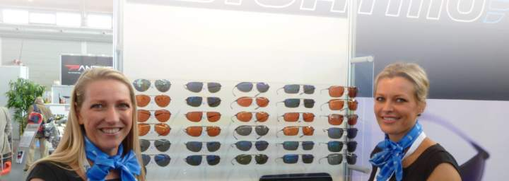 Bigatmo sunglasses exhibit at Friedrichshafen 2012