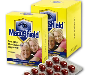 Food supplement protects eye from glare and blue light