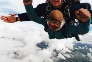 A sky dive to raise awareness