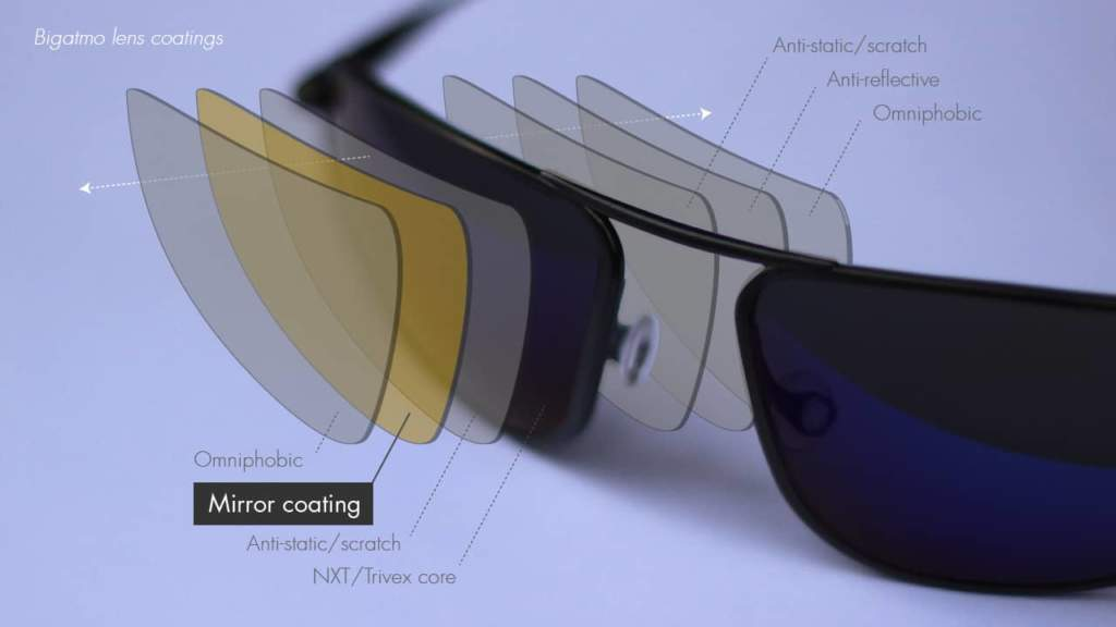 Bigatmo sunglasses lens coatings- mirror coating