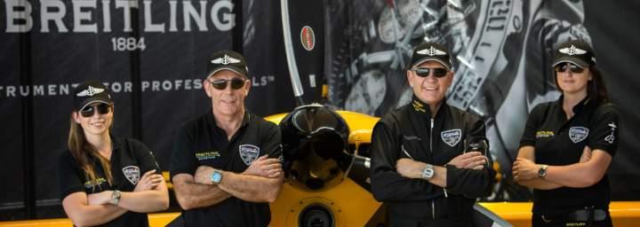Team Nigel Lamb wer Bigatmo sunglasses, designed for pilots