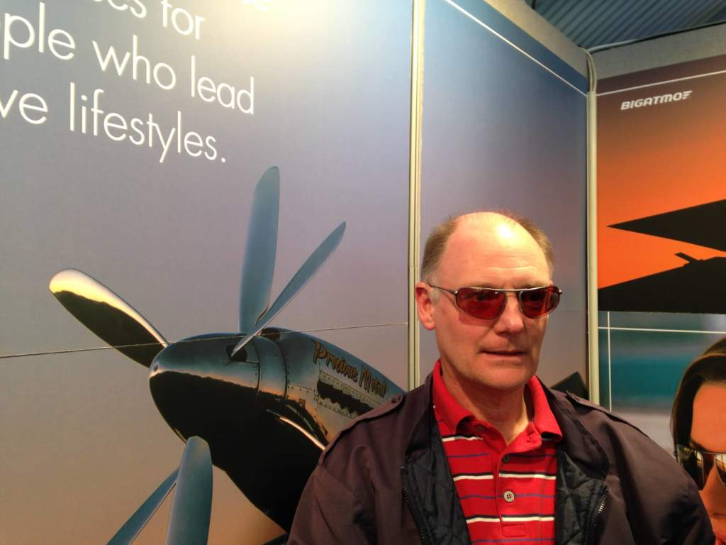 Stuart a Bigatmo customer returns to visit us on stand at Sywell Aeroexpo