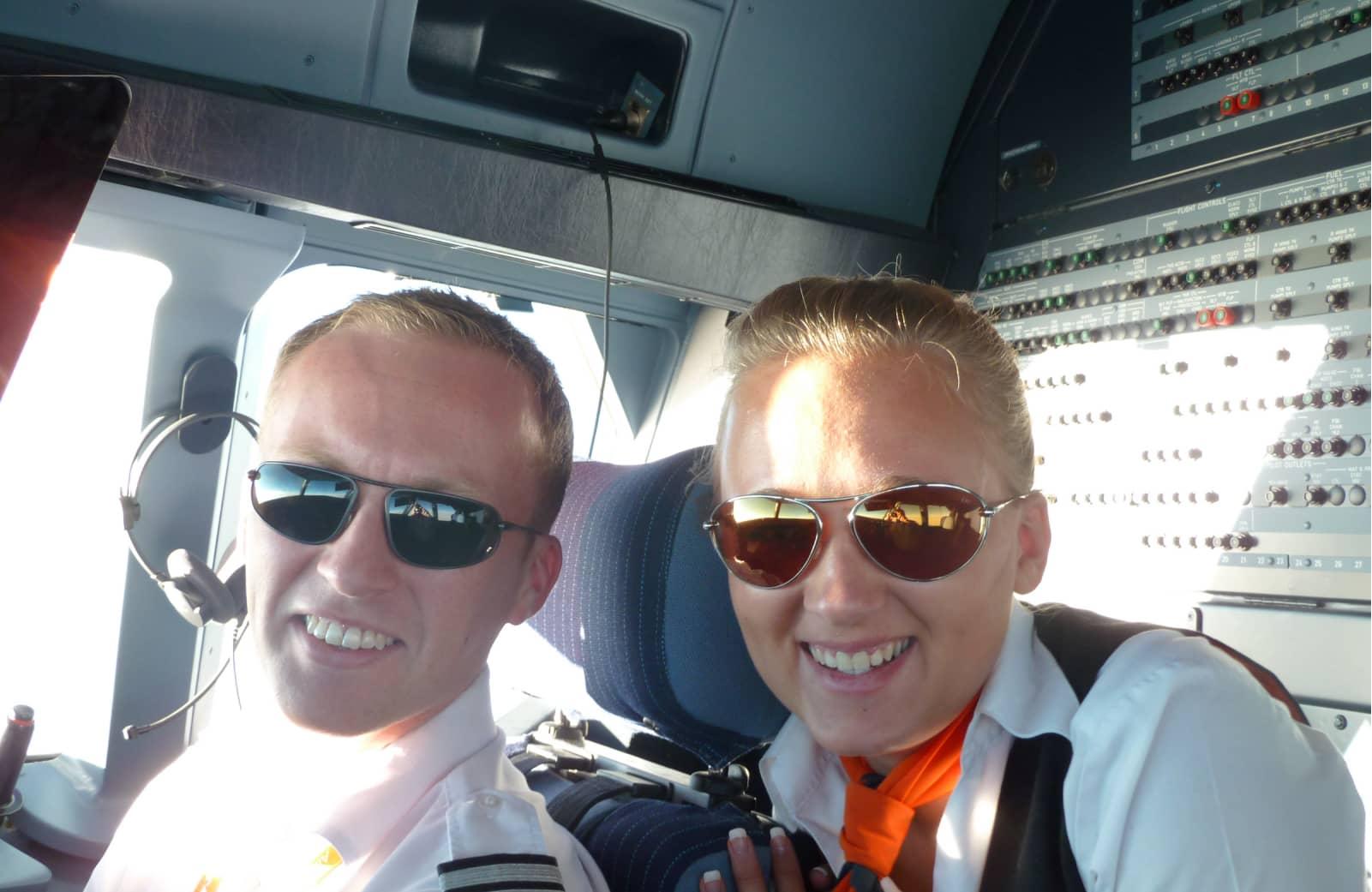 Bigatmo sunglasses in the cockpit