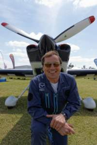 Gerald at Sywell Aeroexpo 2013  wearing Bigatmo model Tropo 0006