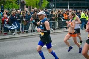 Luke running the London Marathon 2015